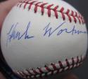 Hank Workman single signed MLB Baseball Ball PSA/DNA auto 1950 Yankees