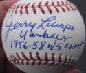 Jerry Lumpe single signed MLB Baseball Ball PSA/DNA auto 1956 1958 Yankees inscription