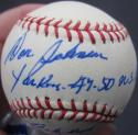 Don Johnson Yankees single signed MLB Baseball Ball PSA/DNA auto Babe Ruth inscription