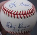 Don Larsen Yogi Berra Yankees WS Perfect Game signed AL Baseball Ball PSA/DNA auto