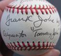 Dr. Frank Jobe Tommy John 2x signed Baseball Ball PSA/DNA TJ Surgeon RARE
