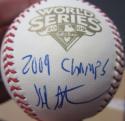 Hal Steinbrenner Yankees Owner single signed MLB WS Baseball Ball PSA/DNA