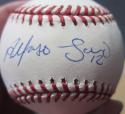 Alfonso Soriano Yankees Cubs single signed MLB Baseball Ball Beckett BAS auto