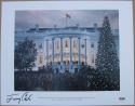 President Jimmy Carter signed 11x14 White House Christmas Print PSA/DNA auto