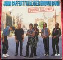John Cafferty Beaver Brown Band 3x signed LP Album Cover Eddie and the Cruisers Tough All Over BAS Beckett