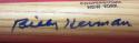 Billy Herman Cubs signed HOF Baseball Mini Bat Beckett BAS authenticated autograph