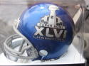 New York Giants Super Bowl XLVI Champions Logo Mini Helmet Limited NEW