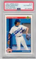 Pedro Martinez HOF signed 1992 Upper Deck Rookie baseball card #18 PSA/DNA Slabbed Auto