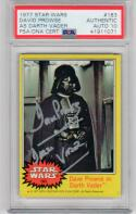 David Prowse signed 1977 Topps Star Wars Darth Vader #32 PSA/DNA auto grade 10