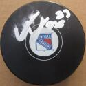 Adam Fox signed Rangers Hockey Puck Beckett BAS Authentic auto