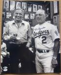 Tommy Lasorda Dodgers signed 16x20 Photo with Frank Sinatra #1 Beckett BAS auto
