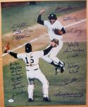 1977 Yankees Team signed 16x20 Photo PSA/DNA 23 signatures Reggie Jackson Ron Guidry