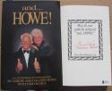 Gordie Howe signed Book and Howe w/ Colleen Howe Beckett BAS Authentic