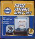 Steiner Sports Single Baseball Ball Glass Display Case UV Protection Cherrywood Base BRAND NEW