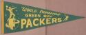 1960's Green Bay Packers World Champions Vintage Full Size Pennant Starr Hornung