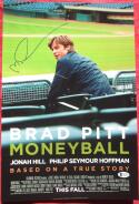 Michael Lewis Signed 12x18 Mini Moneyball Movie Poster Beckett BAS auto Baseball