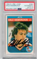 Dale Hawerchuk signed 1982 OPC Rookie Hockey Card PSA/DNA 9 Jets auto