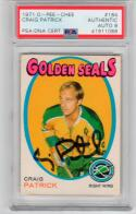 Craig Patrick 1980 USA Miracle on Ice signed 1971 OPC Rookie Card PSA/DNA auto