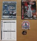 2001 Stanley Cup Finals Avalanche Devils Game 7 and Game 6 Program Patch Pin Game 7 Lineup Card