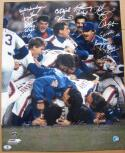 1986 Mets team signed 16x20 Photo Beckett BAS 34 Autos Gary Carter Gooden auto