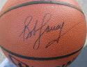 Bob Cousy Celtics single signed NBA I/O Basketball Ball PSA/DNA auto