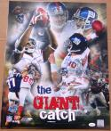 Eli Manning David Tyree signed 16x20 photo Giant Catch Super Bowl 42 XLII JSA auto