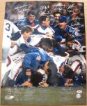 1986 Mets team signed 16x20 Photo PSA/DNA 34 Autos Gary Carter FRANK CASHEN