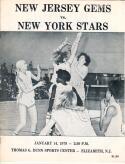 1979 WBL Women's Pro Basketball Program New Jersey Germs vs. New York Stars RARE