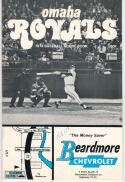 1974 Omaha Royals Program with George Brett on the Cover Minor League