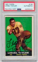 Lionel Taylor signed 1961 Topps #190 Rookie Card RC PSA/DNA Broncos