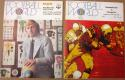 Lot of 2 1974 WFL World Football League Game Program Stars Americans Bell Fire