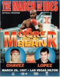 Michael Moorer vs. Vaughn Bean IBF Heavyweight Championship Fight Program 3/29/97