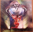 Van Halen 4x signed LP Album Cover 5150 PSA/DNA Eddie Sammy Hagar Michael Anthony Alex Van Halen