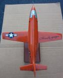 Chuck Yeager signed Bell X-1 Rocket Plane 1/32 Scale Model Sound Barrier Beckett BAS