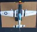 Chuck Yeager signed USAAF P-51 P-51D Mustang Plane 1/32 Scale Model Beckett BAS Mach 1