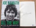 Joe Namath Signed Book All the Way BAS Beckett COA autograph NY Jets Super Bowl MVP