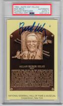 Bud Selig Signed Yellow HOF Plaque Postcard PSA/DNA auto 1st Print Postmarked