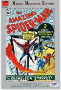 Stan Lee signed Comic Book Amazing Spiderman #1 1962 Reprint PSA/DNA autographed