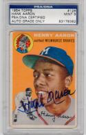 Hank Aaron signed 1954 Topps RC rookie card #128 PSA/DNA auto Grade 9 MINT
