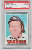 1967 Topps Mickey Mantle #150 Card PSA 6 EX-MT Yankees