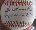 Gene Monahan Yankees single signed MLB Baseball Ball PSA/DNA auto NYY Trainer inscription