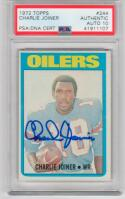 Charlie Joiner signed 1972 Topps #244 Rookie Card auto RC PSA/DNA 10 Chargers