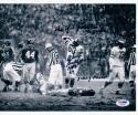 Chuck Bednarik Eagles signed 8x10 Gifford Photo Game is Over Inscription PSA/DNA