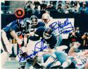 Crunch Bunch Giants Linebackers 3x signed 8x10 Photo Harry Carson Brad Van Pelt Kelley PSA/DNA