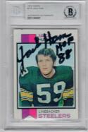 Jack Ham signed 1973 Topps #115 Rookie Card RC Beckett BAS Steelers auto