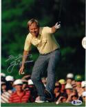 Jack Nicklaus 1986 Masters signed 8x10 Golf Legend photo BAS Beckett auto