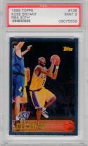 1996 Topps Kobe Bryant NBA 50th Foil Rookie Card RC Lakers PSA 9 MINT