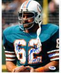 Jim Langer HOF signed 8x10 Photo PSA/DNA auto '72 Dolphins Inscription Super Bowl VII