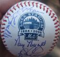 1986 Mets team signed MLB Shea Baseball Ball 26 Auto Beckett BAS Gary Carter