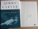 Jimmy Carter signed book Living Faith 1st Print Beckett BAS Authentic auto